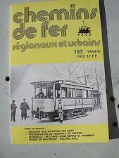 Chemins de fer secondaires 183 1984 histoire motrices 300 CGPT tramways ROMA