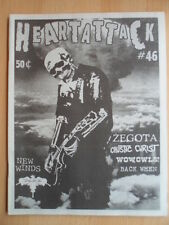 HEARTATTACK # 46 New Winds ZEGOTA Caustic Christ Wow,Owls! Back When Fanzine