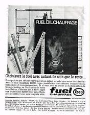 PUBLICITE ADVERTISING   1965    ESSO  fuel chauffage
