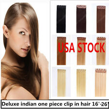 26inch Indian Remy Human One Piece Volumizer Clip In Extensions 60g 9497e80b5b