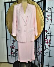 BEADED CHURCH SKIRT SUIT PINK 18 PLUS