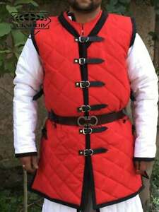 Medieval gambeson with sleeveless, Padded under armor for body protection