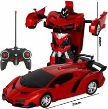 Rc Transformers 2 in 1 Car Driving Sports Toy Robot Remote Control Kids Action 1