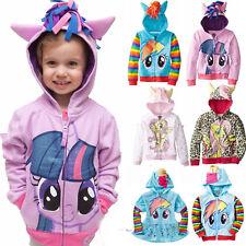 My Little Pony Girls Kids Hoodie Zip Up Jacket Jumper Sweatshirt Coat Outwear AU
