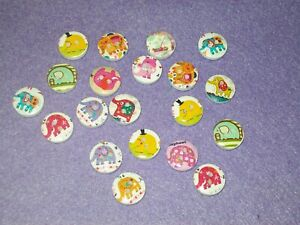 BABIES//CRAFT approx 15mm 10 x LEMON ELEPHANT SHAPED BUTTONS ~ size 28L
