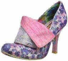 Irregular Choice Flick Flack Purple Floral para Mujer Tacones Zapatos Puntera Cerrada