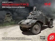 ICM 1/35 Panzerspahwagen P 204 (F) Segunda Guerra Mundial German vehículo acorazado # 35374