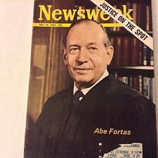 Newsweek Magazine Abe Fortas Justice On Spot May 19, 1969 070517nonrh
