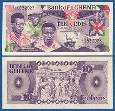 GHANA 10 Cedis 1984  UNC  P. 23