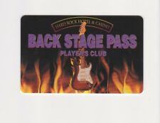 Players Slot Club Rewards Card Hard Rock Hotel & Casino Back Stage Pass Card