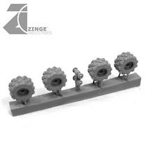 Zinge Industries ruedas militar 19 mm x4 (S-WHE03)