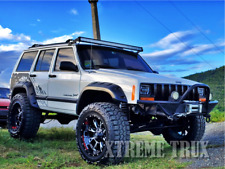 Textured Black 84-01 Jeep Cherokee XJ Pocket Rivet Fender Flares 4Dr Set