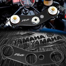 "Handle Bar Yoke Cover Carbon Look+Black 6"" Logo+Emblem Sticker Kit 06-16 YZF R6"