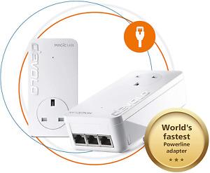 Devolo Magic 2-2400 LAN Triple Starter Kit: Stable home working, Powerline Kit,