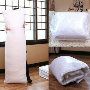 150 x 50CM Anime Hugging Long Pillow Inner Body Cushion White  Long Pillow new