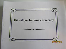 1908 William Galloway Co Gas Engine Catalog All sizes, hit miss, saws, pumps