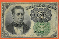 FR.1264 FIFTH ISSUE TEN CENT FRACTIONAL NOTE GREEN SEAL LONG THIN KEY 5 mm
