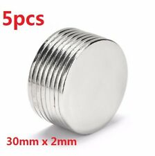 X5 Super Strong Round Magnets 30mm x 2mm Disc Rare Earth Neo Neodymium N52