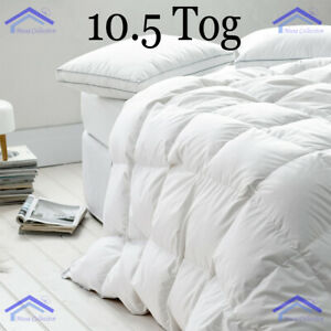 🔥NEW LUXURY 10.5 TOG HOTEL QUALITY DUCK FEATHER & DOWN DUVET QUILT ALL SIZES