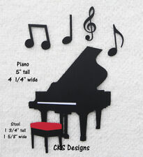 Die Cut PIANO Playing Music Scrapbook Page Embellishment Paper Piecing CKS