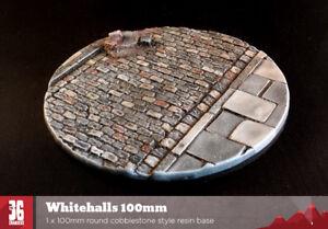 Whitehalls 100mm round cobblestone style resin base