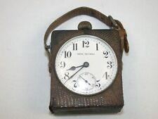 Seth Thomas Unusual Travel Clock in Leather Case. 27F