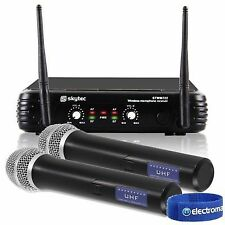 Cheap Skytec Stwm722 2 Chan Wireless Handheld UHF Microphones