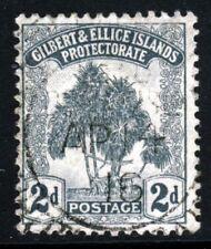 GILBERT & ELLICE ISLANDS 1911 Pandanus Pine 2d. Grey SG 10 VFU