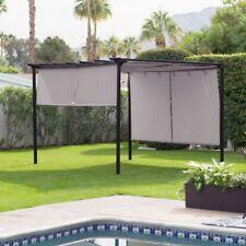 Retractable Canopy Metal Frame Gazebo Outdoor Home Furniture Garden Yard