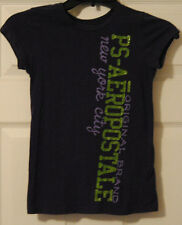 PS Aeropostle Original Brand girls purple green glitter t shirt Medium 10 EUC