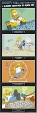 THE SIMPSONS ~ HOMER SLACKING OFF AT WORK DOOR 21x62 CARTOON POSTER MEW/ROLLED!