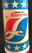 Greyhound Thermos 1976 Bicentennial Drink Up America, Patriotic Insulated Travel