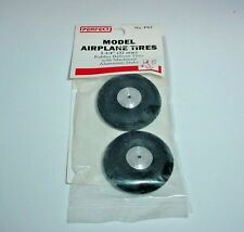 "Perfect Parts Model Airplane Rubber Balloon Tires Aluminum Wheels 1-1/4"" Dia."