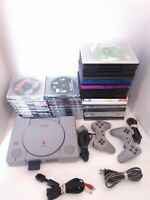 Sony PlayStation 1 PS1 Console w/ 2 OEM Controllers, Memory Card & 85 Games!