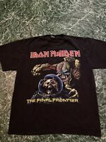 Vintage 2000 Iron Maiden The Final Frontier Tshirt Band Tour Merch Sz L Rare Blk