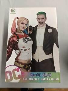 Harley Quinn & Joker Statue Suicide Squad Margot Robbie Jared Leto 13In Marsano