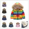 Toddler Baby Boys Girls Winter Warm Coat Outerwear Boy Hooded Jacket Clothes