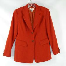 Talbots Petites Women's Size 2 Burnt Orange Wool Cashmere Blend Career Blazer
