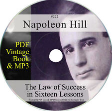 Law of Success in Sixteen Lessons Napoleon Hill Book CD MP3 Audio Napolean 222