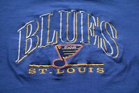 Vintage 90s St. Louis Blues T-Shirt M Shirt Hockey NHL Gretzky