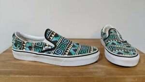 Vans Classic Low Unisex Aztec Patterned Sneaker Shoes - UK Size 6.5