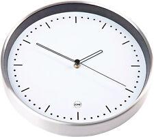 Wanduhr 30 cm Alu weiß Baduhr Bahnhofsuhr Küchenuhr Uhr Wohnzimmer Großuhr