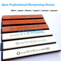 6pcs Sharpening Stones Professional Sharpening System Kitchen Knife Sharpener