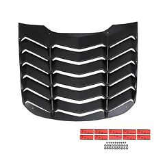 ABS Rear Window Louver Cover Sun Shade Vent For 15 16 17 18 19 20 Ford Mustang