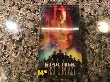 Star Trek First Contact New Sealed Vhs! 1996 Sci-Fi! See) Lost In Space & Sphere