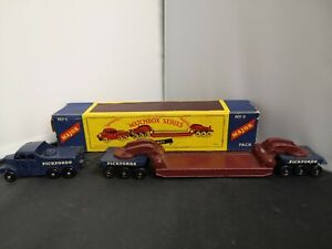 P739-MATCHBOX MAJOR PACK No6 SCAMMELL PICKFORDS CRANE TRANSPORTER WITH BOX.
