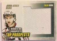 2009-10 ITG Heroes & Prospects Jumbo Jersey Silver Tyler Cuma Vault Silver 1/1