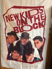 Nkotb 1989 Vintage New Kids On The Block Banner Poster Wall Flag 29� x 45�