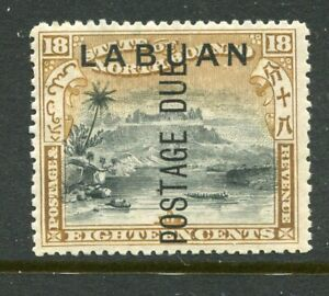 LABUAN....   Postage Due  1901  18c canoes, SgD8  mint