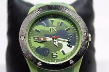Nuevo Para hombres Camuflaje Verde Militar Reloj con correa de goma de silicona